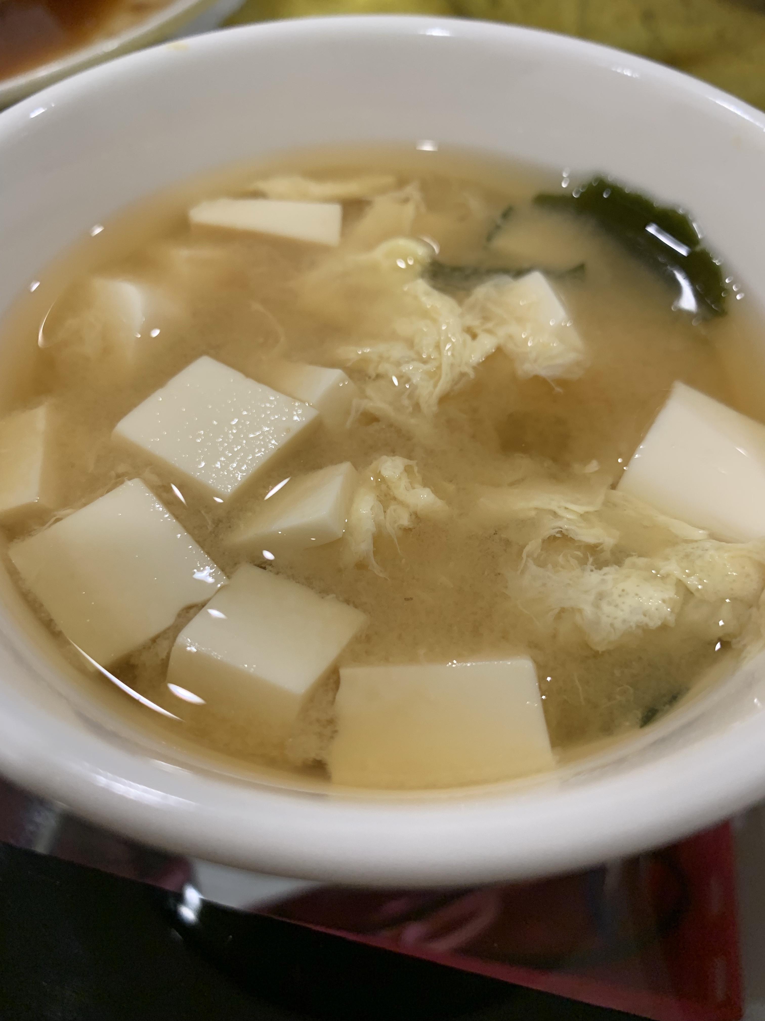 海帶芽味增豆腐蛋花湯