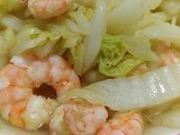 咖哩風味大白菜炒蝦