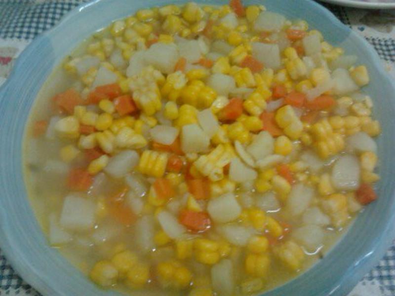 Y芬的小廚房--馬菱薯炒玉米