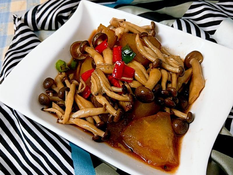 醬燒冬瓜鴻喜菇-【好菇道營養料理】