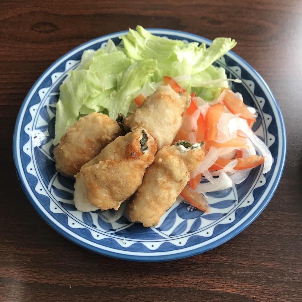 日式紫蘇炸雞胸肉捲(高蛋白低卡)