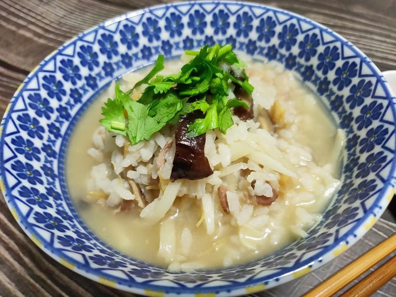 lanni 干貝香菇竹筍粥