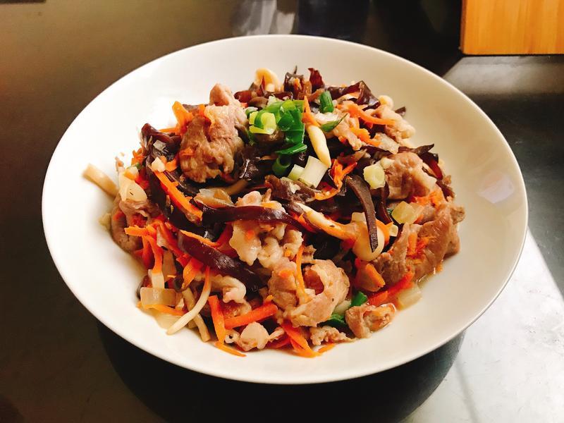 木須炒豬肉片(蛋白質滿滿)