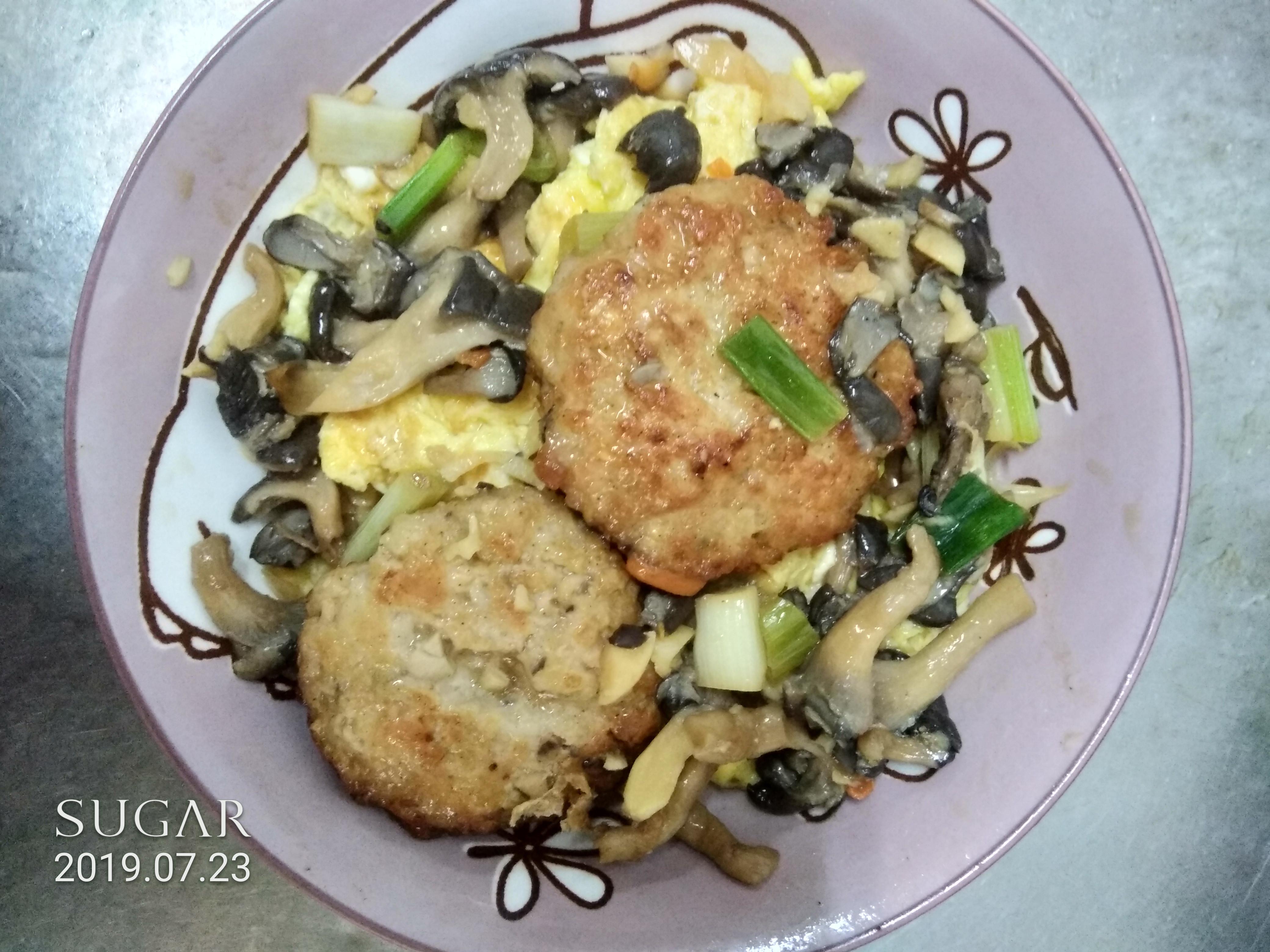醬燒蛋菇菇豬肉餅(好菇道營養料理)
