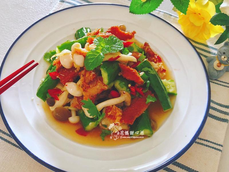 涼拌雙菇蒲燒鰻(好菇道營養料理)