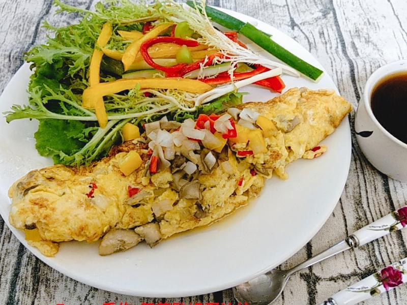 舞菇歐姆蛋沙拉- 【好菇道營養料理】