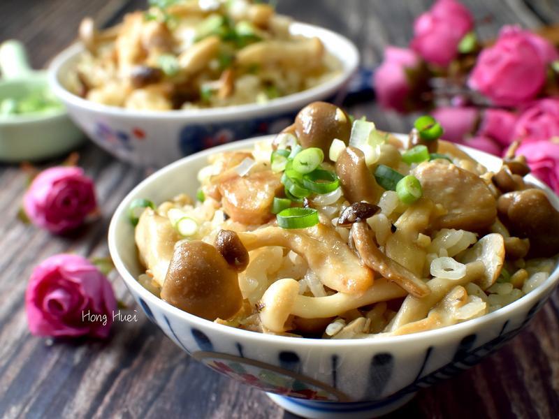 蒜香菇菇雞肉炊飯【好菇道營養料理】