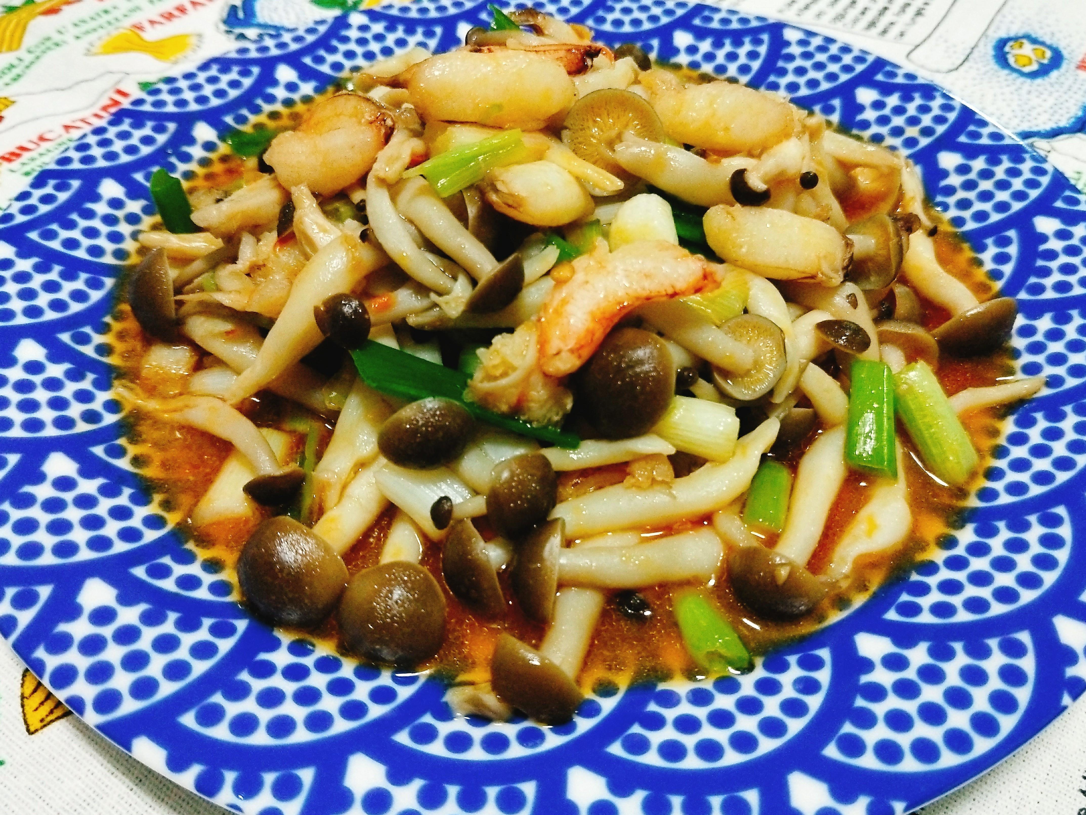 鴻喜菇炒蟹管肉