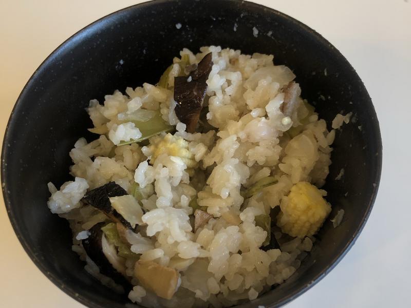電鍋蒸料理 〈香菇洋蔥薑味飯〉