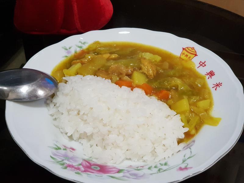 高麗菜多多咖哩飯