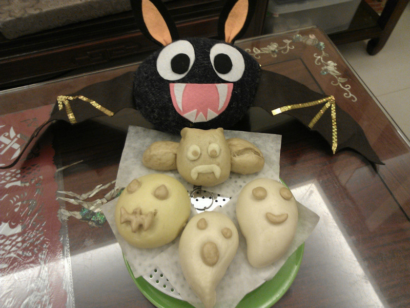 萬聖節特輯:蝙蝠、南瓜怪、幽靈饅頭【電鍋】