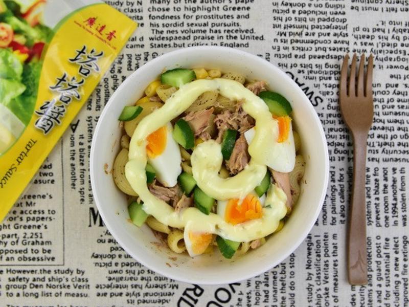 沙拉美食  好吃沒負擔----鮪魚通心麵