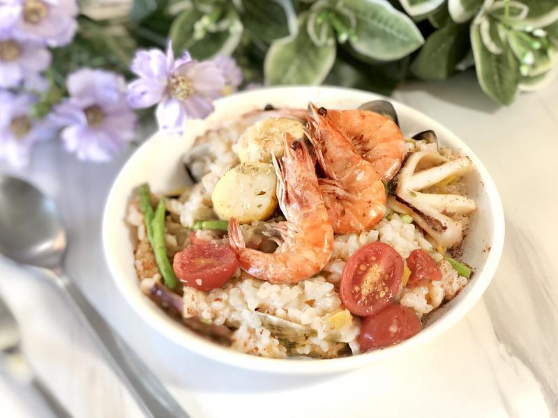 免顧爐.義式海鮮燉飯/0水鍋