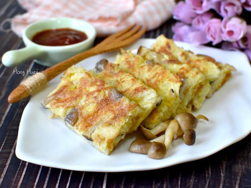 鴻喜菇雞蛋馬鈴薯餅【好菇道營養料理】