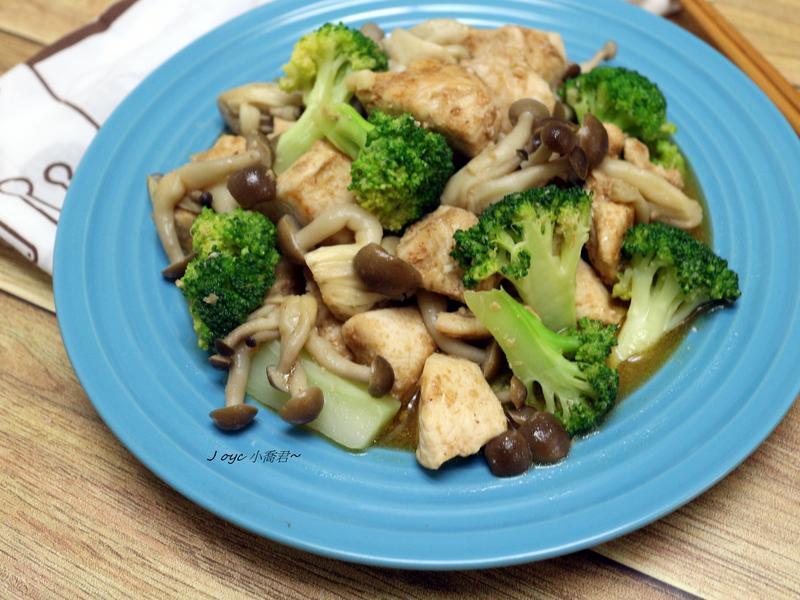 沙茶菇菇嫩雞丁【好菇道營養料理】