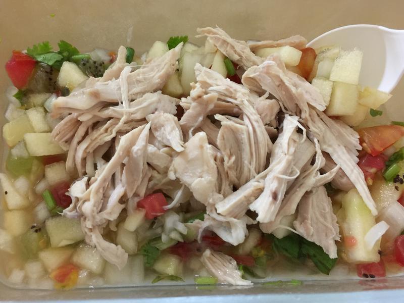 雞胸肉佐水果莎莎醬(無油)