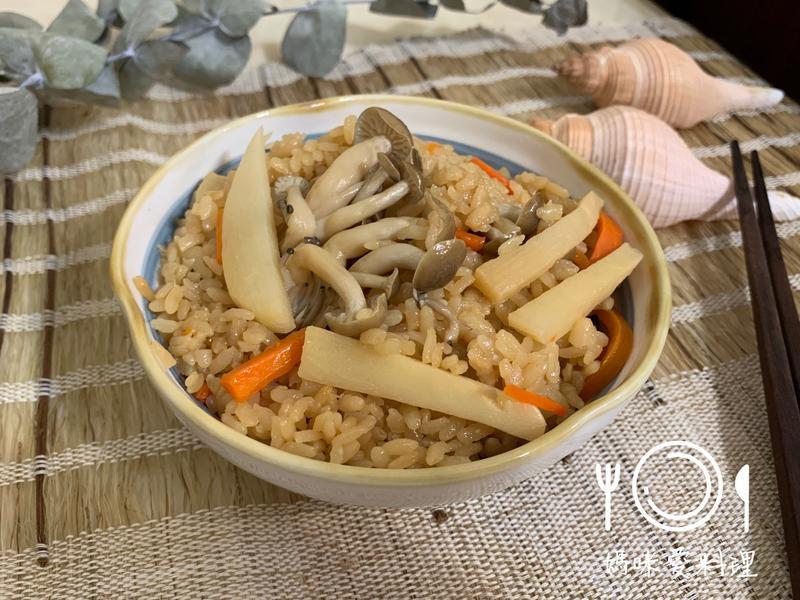 竹筍菇菇炊飯【好菇道營養料理】