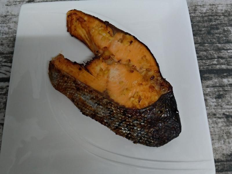 (氣炸鍋)豆乳鮭魚