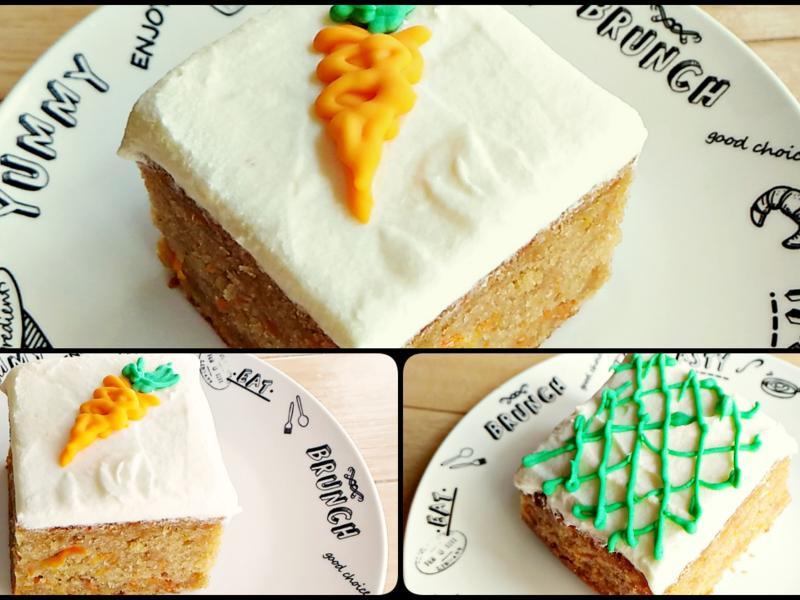 紅蘿蔔蛋糕加奶油起司糖霜