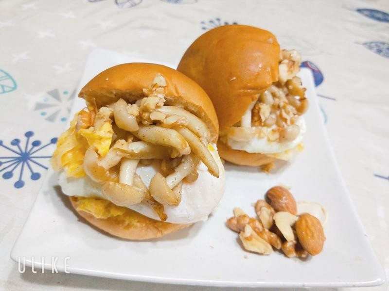 泡菜菇•蛋Mini堡【好菇道營養料理】