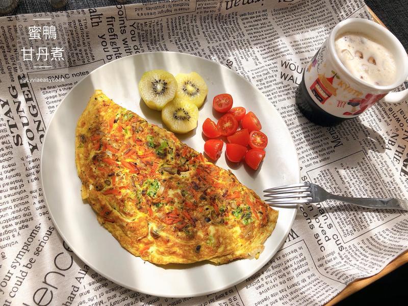 10分鐘快速上桌減脂早餐-蔬菜烘蛋
