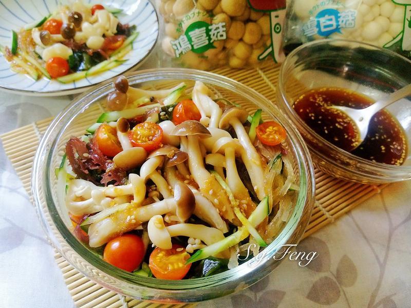 和風涼拌菇菇海藻【好菇道營養料理】