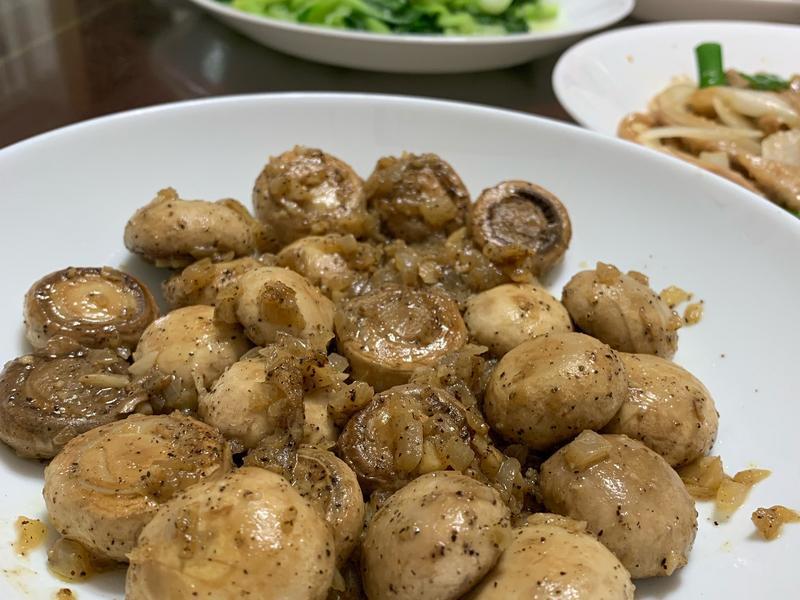 奶油胡椒蘑菇
