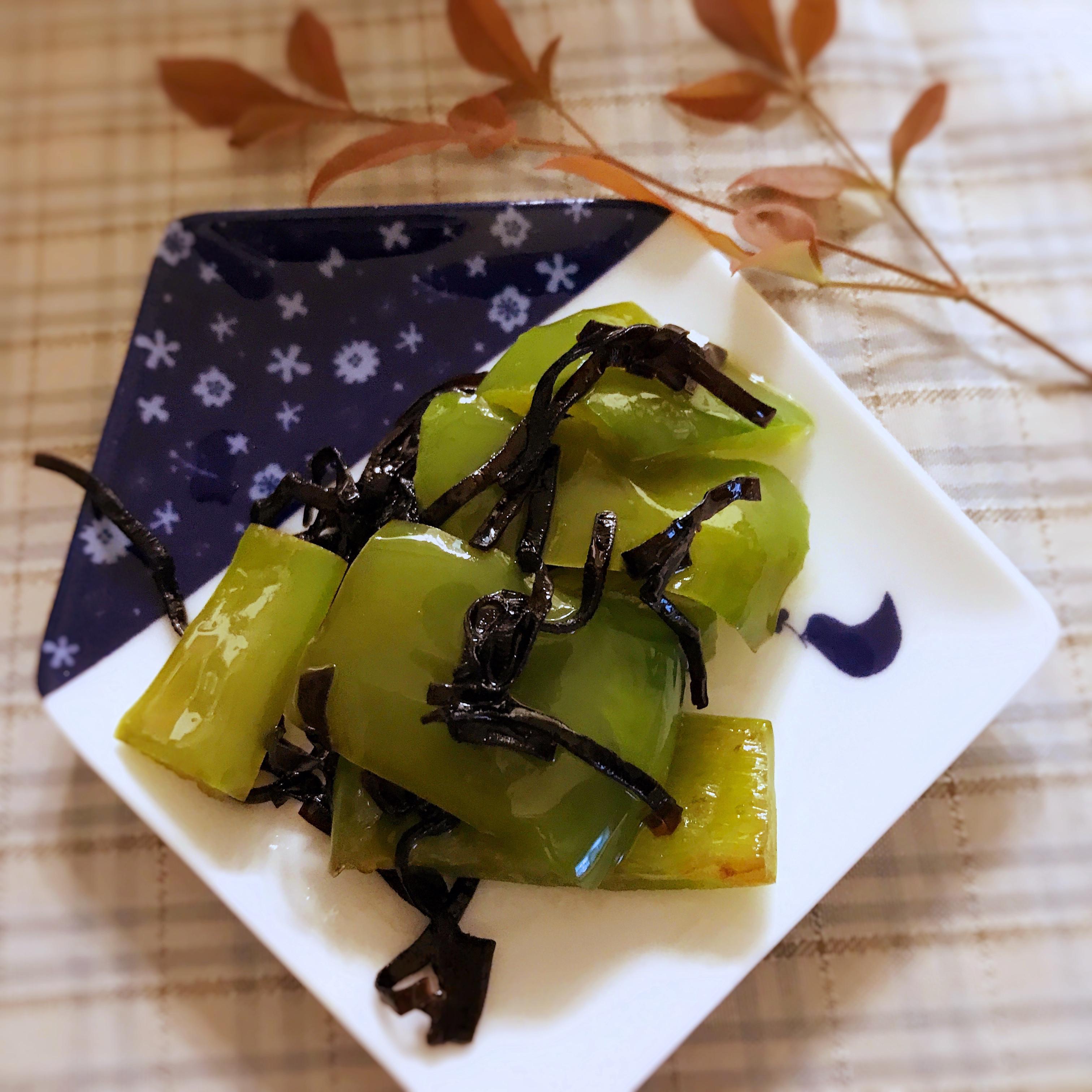 【日式副菜】塩昆布拌青椒