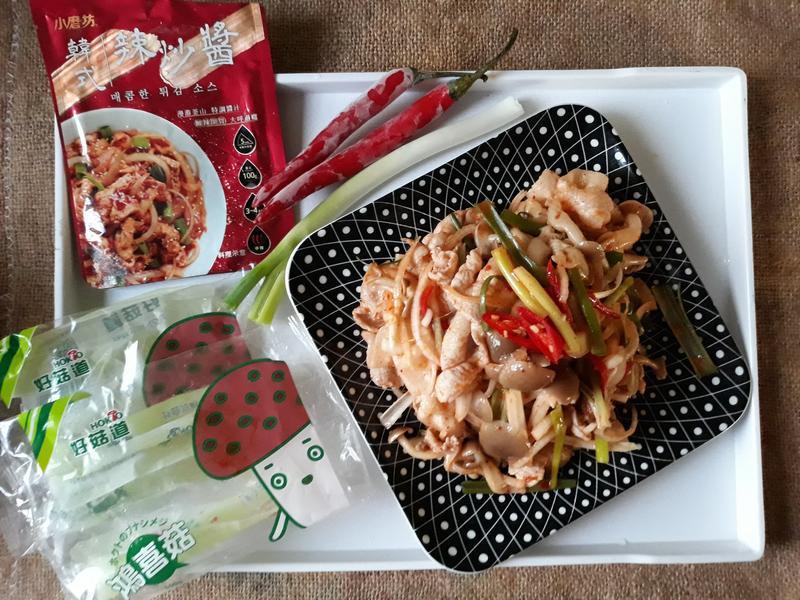 十分鐘上菜韓式辣沙拌豚【好菇道營養料理】