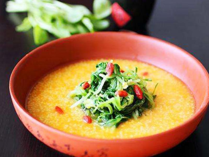 金汤小米鸡毛菜,一招让你爱上吃杂粮菜