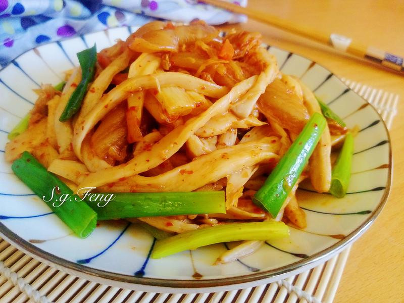 韓式泡菜手撕杏鮑菇