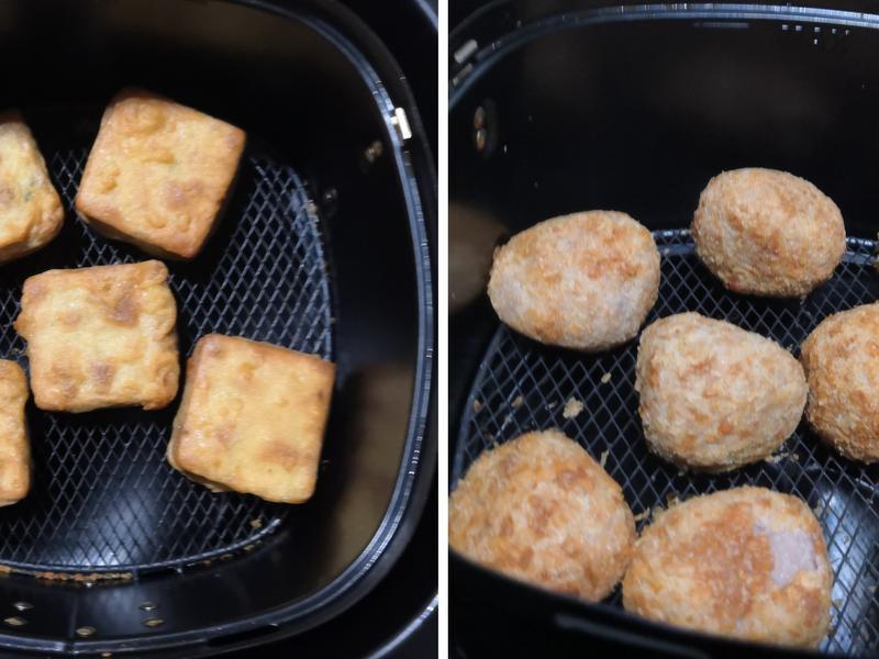 氣炸芋頭丸和芊頭餅-板橋館氣炸料理