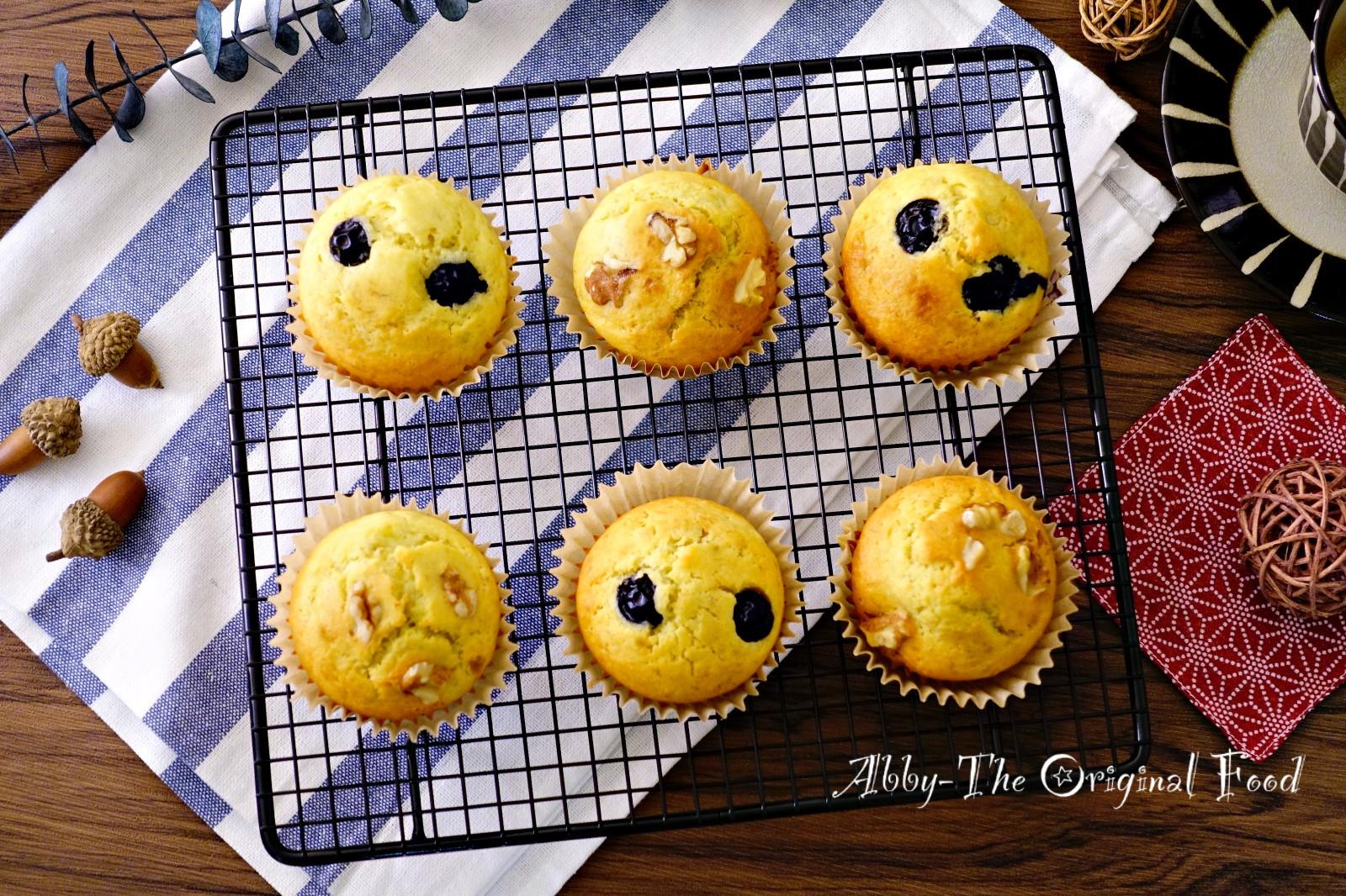 香蕉藍莓馬芬(低糖低油版)