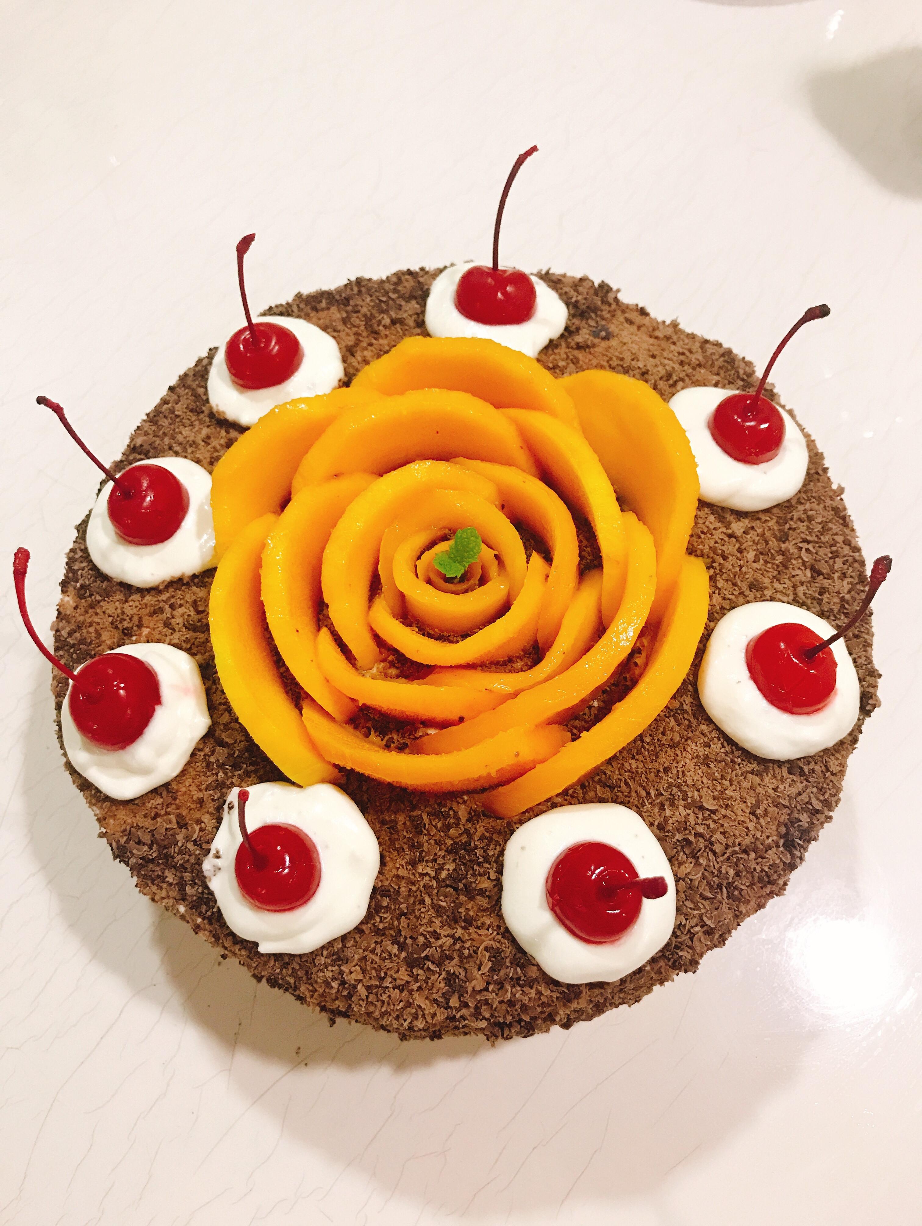 黑森林芒果花花蛋糕
