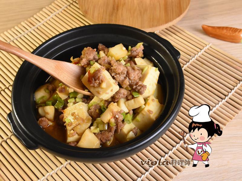 香筍肉末燴豆腐
