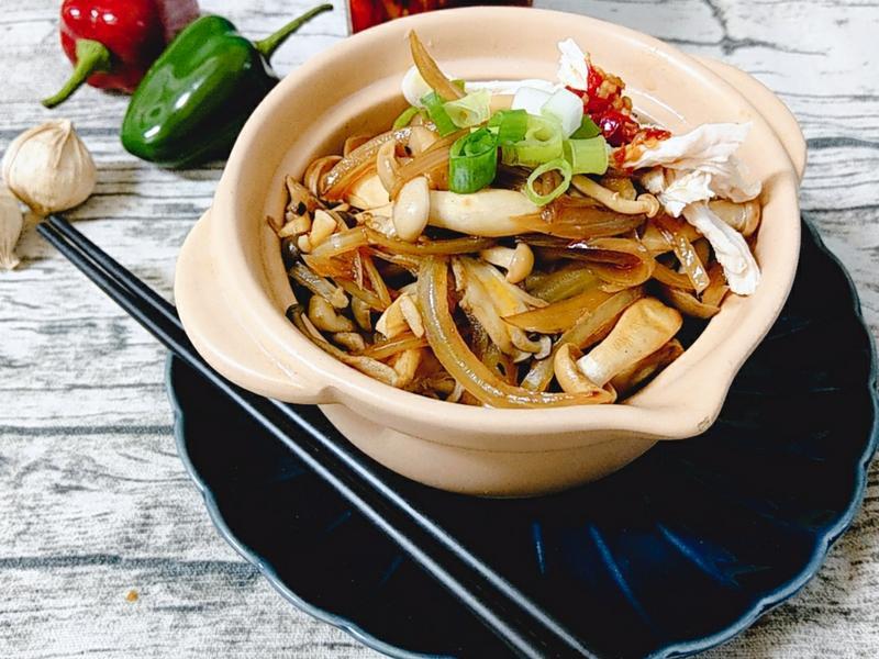 雙菇雞絲拌麵-【好菇道營養料理】