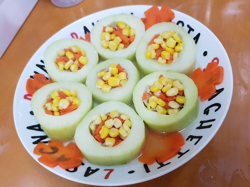 親子料理:絞肉黃瓜圈