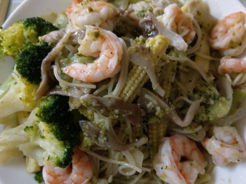 舞菇蝦仁義大利麵-好菇道營養好料理