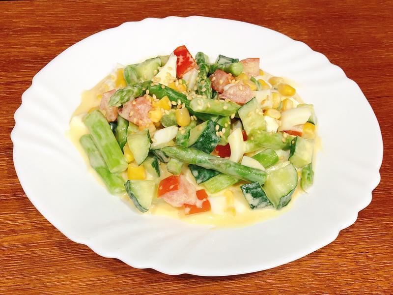 蘆筍雞蛋沙拉-健康、快速、清冰箱料理