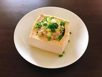 清蒸鮪魚肉末鑲豆腐(電鍋料理)