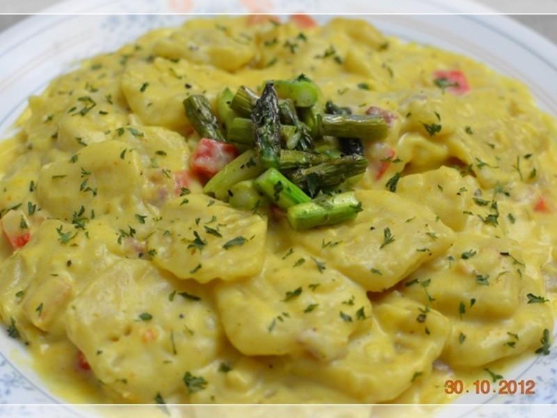 [四季江戶味之秋季料理]-南瓜麵疙瘩佐烤蘆筍