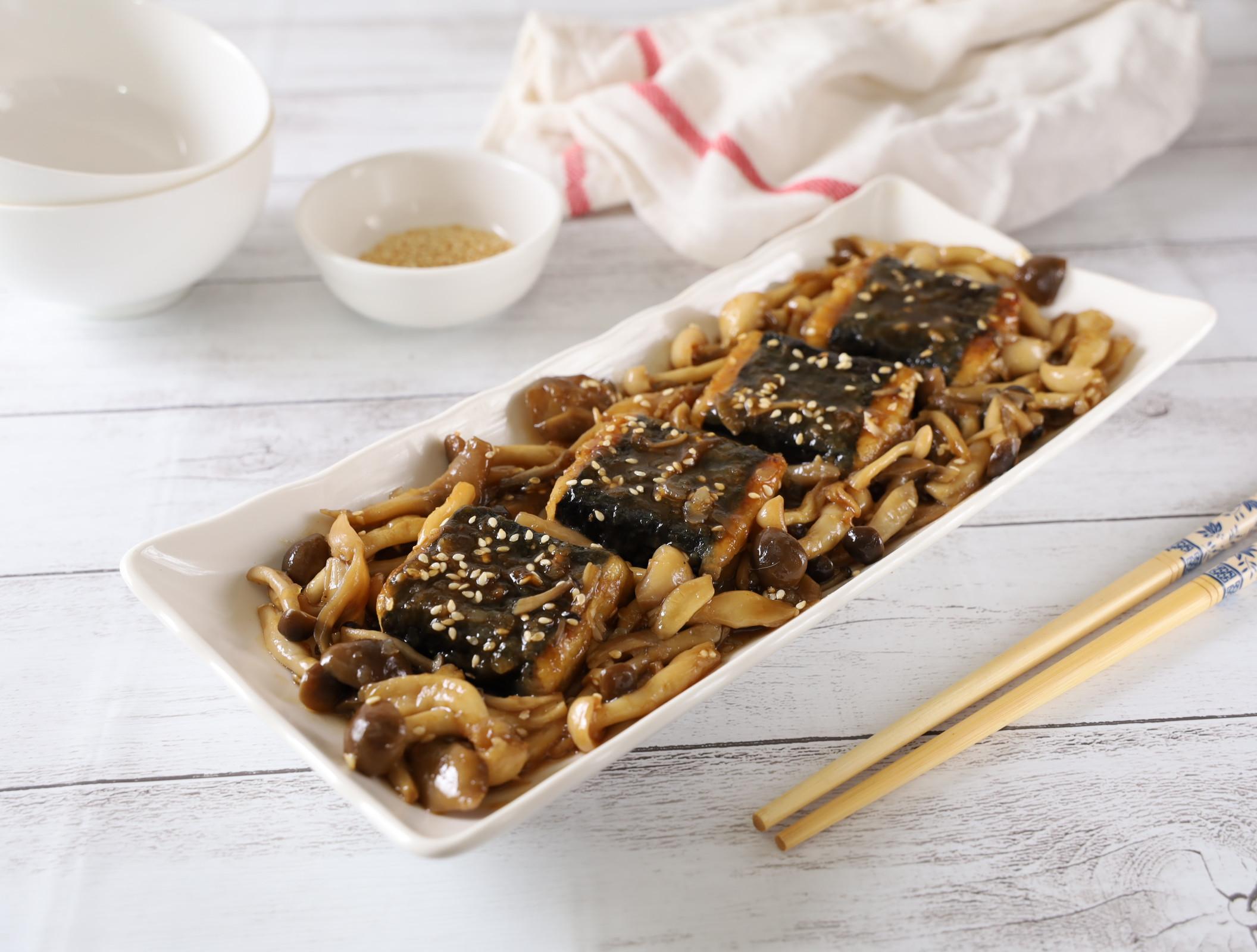 菇菇海苔豆腐燒(素食)