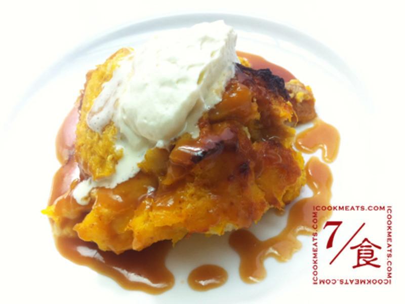 【7/食】南瓜麵包布丁和焦糖蘋果醬