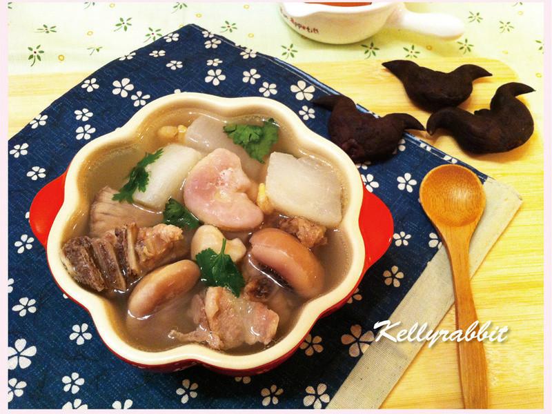 蘿蔔菱角排骨湯