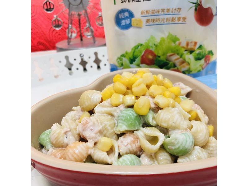 鮪魚起司貝殼通心麵沙拉