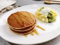 鬆軟的酵母鬆餅 無泡打粉 pancake