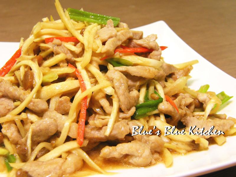 黃豆豉筊白筍肉絲