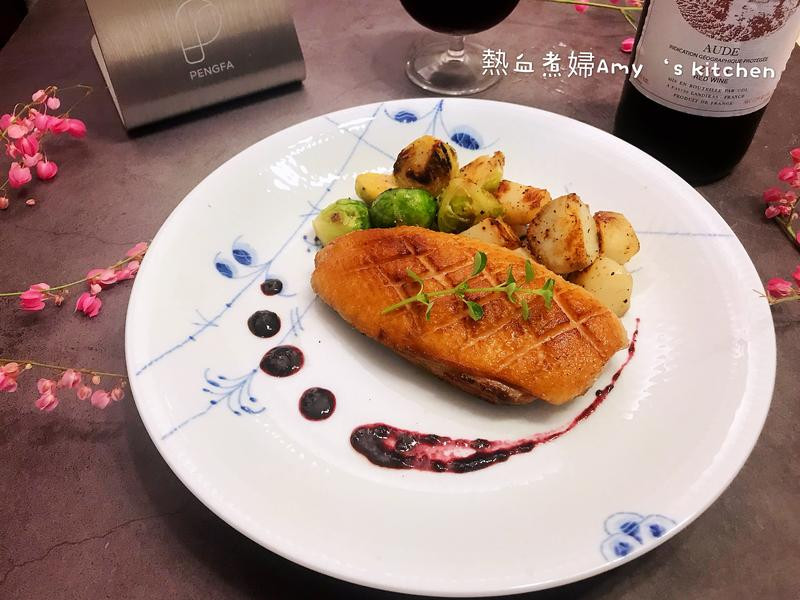 法式嫩煎鴨胸佐藍莓醬(舒肥法)