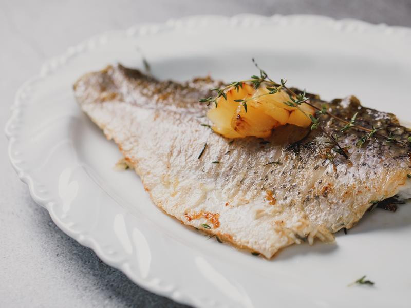 低醣料理 <海鮮> 香煎海鱸魚菲利
