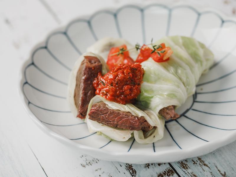 低醣料理 <牛肉> 高麗菜牛肉捲